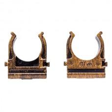 Крепеж-клипса для трубы 16мм  Bironi BTK1-16-25, цвет бронза