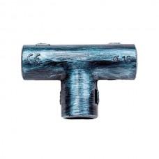 Тройник соединительный для труб D16  Bironi BTT1-16-11, цвет серебряный век