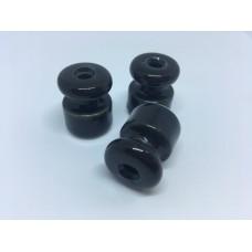 Евроролик (изолятор) керамический Zion Z050009, цвет черный глянец
