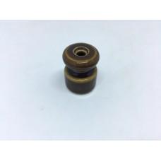 Евроролик (изолятор) керамический Zion Z050010, цвет карамель