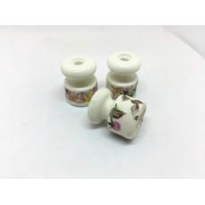 Евроролик (изолятор) керамический Zion Z050007, цвет нежность