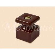 Изолятор кабельный с саморезом ТМ МезонинЪ GE80027-04, цвет коричневый