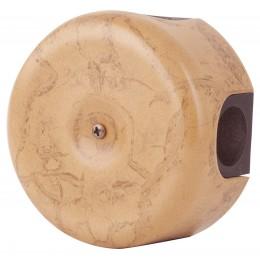 Коробка распаечная Ø90 мм Retrika RR-09010-ТМ, цвет темный мрамор