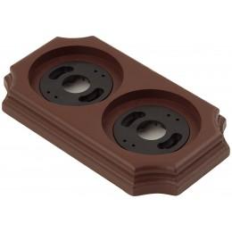 Рамка двухместная наружная ФД КерамикЪ P240-К, цвет коричневый