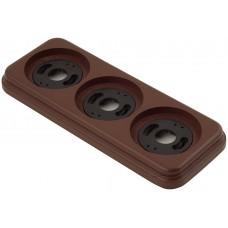 Рамка трехместная наружная ФД КерамикЪ P320-К, цвет коричневый