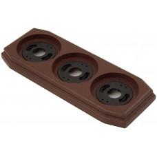 Рамка трехместная наружная ФД КерамикЪ P330-К, цвет коричневый