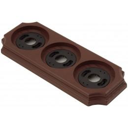 Рамка трехместная наружная ФД КерамикЪ P340-К, цвет коричневый
