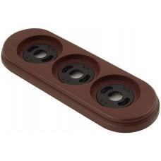 Рамка трехместная наружная ФД КерамикЪ P350-К, цвет коричневый