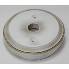 Рамка для распределительной коробки на бревно Lindas 25870, цвет золотая патина на белом