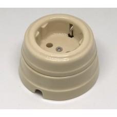 Розетка электрическая Greenel GE70301-02, цвет имбирь