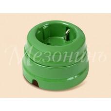 Розетка электрическая Greenel GE70301-10, цвет зеленый