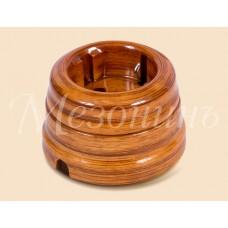 Розетка электрическая Greenel GE70301-61, цвет мускатный орех