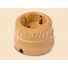 Розетка электрическая Greenel GE70301-01, цвет персиковый
