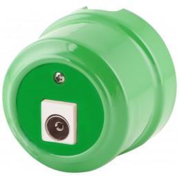 Розетка телевизионная Lindas 325-З, цвет зеленый