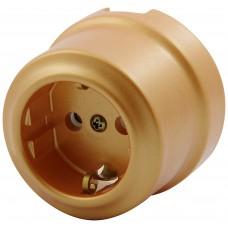 Розетка электрическая Lindas 350-БМ, цвет бархатная медь