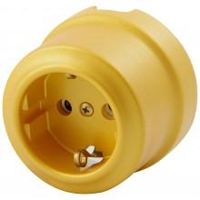 Розетка электрическая Lindas 350-БЗ, цвет бархатное золото
