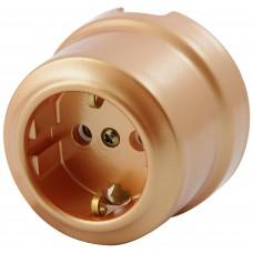 Розетка электрическая Lindas 350-М , цвет Медный