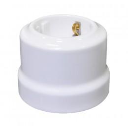 Розетка электрическая Lindas 35010, цвет белый