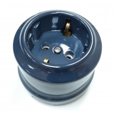 Розетка электрическая Lindas 35032, цвет графит