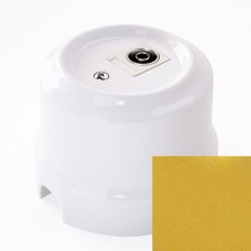 Розетка телевизионная Lindas 325-БЗ, цвет бархатное золото