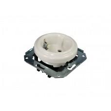Розетка электрическая без рамки Retrika серия Colony RSV-80001, цвет белый
