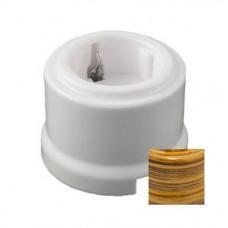 Розетка электрическая Retrika RS-800005, цвет бамбук