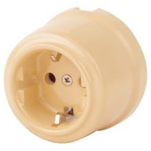 Розетка электрическая Retrika RS-80009-А, цвет арахис