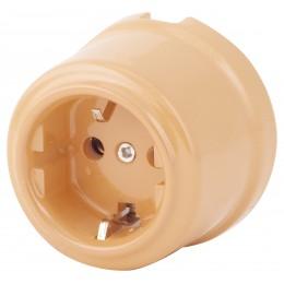 Розетка электрическая Retrika RS-80009-КБ, цвет крем-брюле