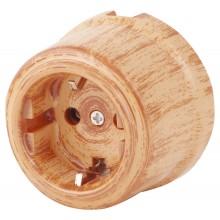 Розетка электрическая Retrika RS-80009-КД, цвет красный дуб