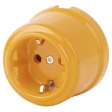 Розетка электрическая Retrika RS-80009-ПЗ, цвет песочное золото