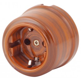 Розетка электрическая Retrika RS-80009-ТД, цвет тигровое дерево