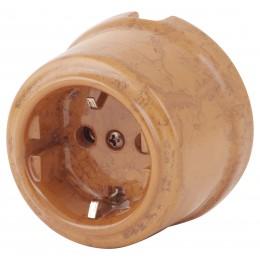 Розетка электрическая Retrika RS-80009-ТМ, цвет темный мрамор