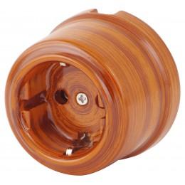 Розетка электрическая Retrika RS-80009-БО, цвет бразильский орех