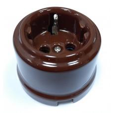 Розетка электрическая Sun Lumen 060-998, цвет коричневый