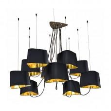 Люстра LOFT1163-10BL LOFT IT, цвет черный/золото