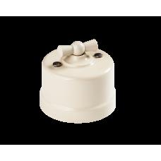 Выключатель 1-клавишный проходной BIRONI B1-201-211, цвет слоновая кость