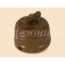 Выключатель 2-х позиционный ТМ МезонинЪ GE70404-К, цвет какао