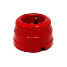 Розетка электрическая Greenel GE70301-06, цвет красный