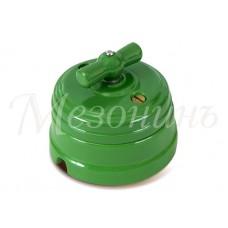 Выключатель 2-х позиционный ТМ МезонинЪ GE70404-10, цвет зеленый