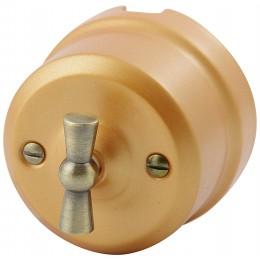 Выключатель 2-х позиционный Lindas 341-БМ, цвет бархатная медь