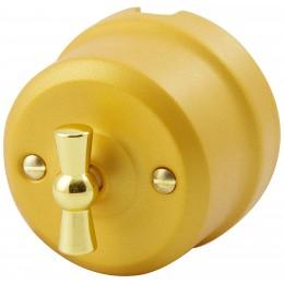 Выключатель 2-х позиционный Lindas 341-БЗ, цвет бархатное золото