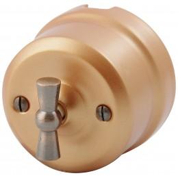 Выключатель 2-х позиционный Lindas 341-М, цвет медный