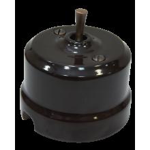Выключатель тумблерный проходной Lindas  34512-C, цвет коричневый/медь