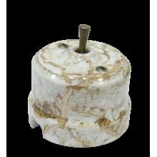 Выключатель тумблерный Lindas 34413-B, цвет  мрамор/бронза