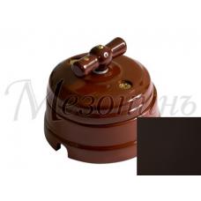 Выключатель 2-х позиционный ТМ МезонинЪ GE70404-ТК, цвет темно-коричневый