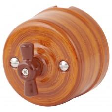 Выключатель 2-х позиционный Retrika R-SW-19-БО, цвет бразильский орех