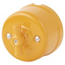 Выключатель 2-х позиционный Retrika R-SW-19-ПЗ, цвет песочное золото