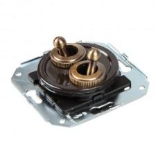 Выключатель тумблерный 4-х позиционный Salvador CL51BR, цвет коричневый