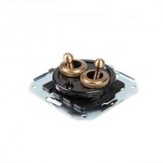 Выключатель тумблерный 4-х позиционный Salvador CL51BL, цвет черный