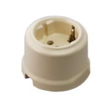 Розетка электрическая Retrika RS-80005, цвет слоновая кость